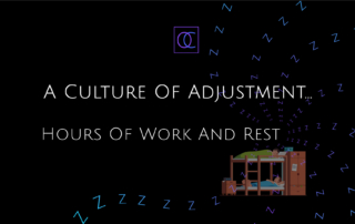 A Culture Of Adjustment - Title and picture of sleeping in bunk